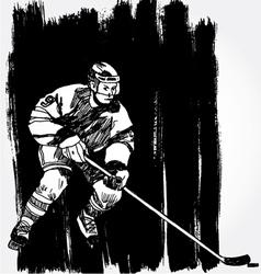 hockey player6 vector image vector image