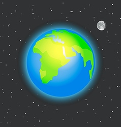The Earth in space vector image