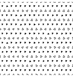Abstract black and white geometric triangle vector image