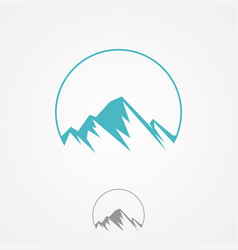 abstract nature or outdoor mountain range vector image