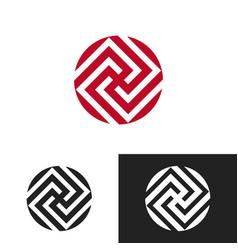 Artistic logo design vector