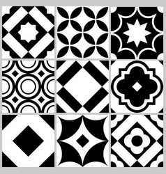 azulejo seamless tile pattern geometric vector image