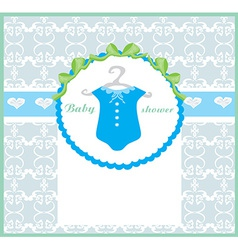 Baby boy shower invitation vector