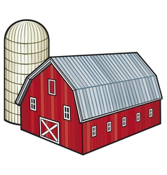 Barn and silo vector