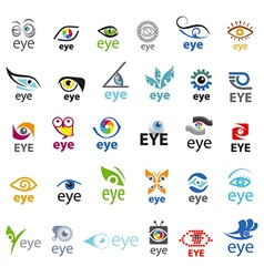 Biggest collection of logos Eye vector