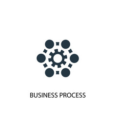 business process icon simple element vector image