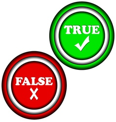 Buttons true and false vector