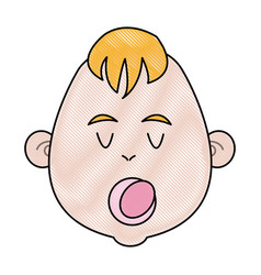 cartoon baby jesus icon christmas design vector image