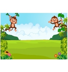 Cartoon cute monkey vector