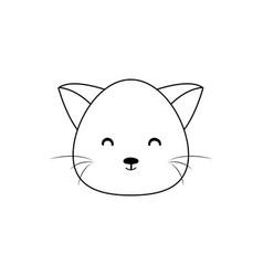 Cat drawing face vector