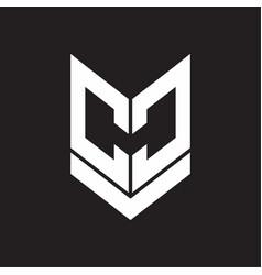 cc logo monogram with emblem shield style design vector image