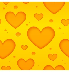 Cheese hearts seamless pattern vector image