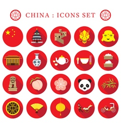 China Flat Icons Set vector