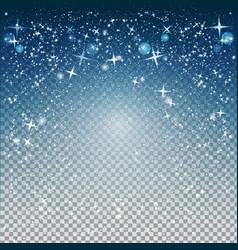 christmas night snowfall sparkle abstract vector image