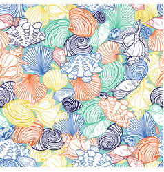 Colorful tropical repeat pattern with vector