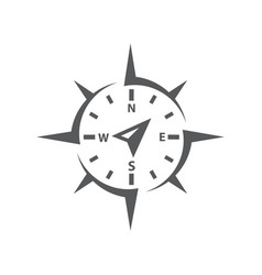 compass icon on white background vector image