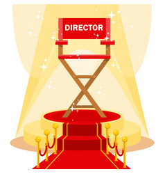 director chair on red carpet vector image