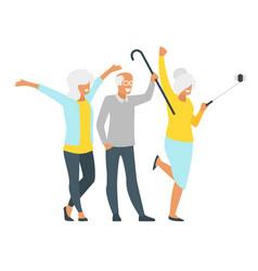 elderly senior man and woman vector image
