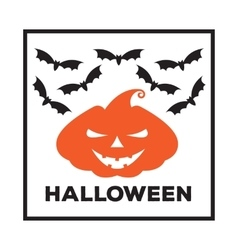 emblem or poster for a holiday Halloween vector image