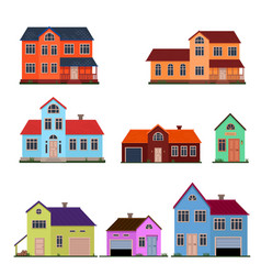 family house set vector image