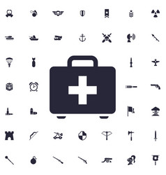 First aid case icon vector