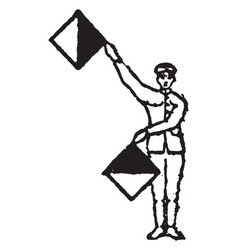 Flag signal for the letter i and the number 9 vector
