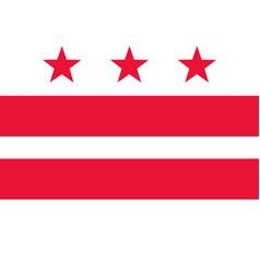 Flag washington dc as vector