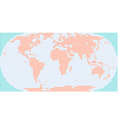 Flat dotted world map atlas vector