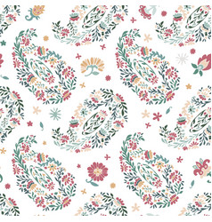 flourishing and blooming flowers seamless print vector image