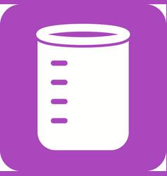 glass beaker vector image