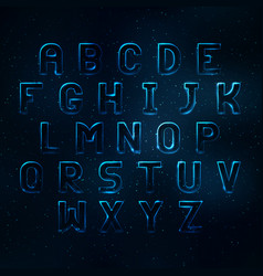 Glowing cosmic neon font vector