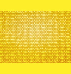 gold metal hexagon texture vector image