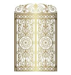Golden forged gate vector