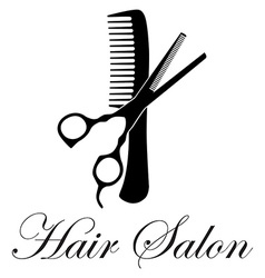 Hair salon vector image