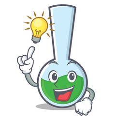 Have an idea tube laboratory character cartoon vector
