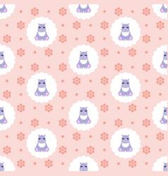 hippo flat vector image