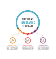 infographic template with three options vector image