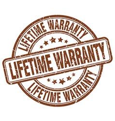 Lifetime warranty brown grunge round vintage vector