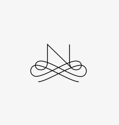 linear monogram symbol logo premium letter vector image