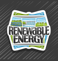 logo for renewable energy vector image