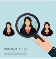 looking for talent vector image