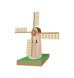 Mill cartoon icon vector image