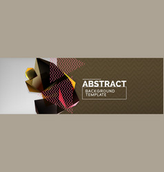 minimalistic geometric abstract background vector image