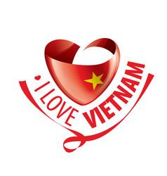 National flag vietnam in shape vector