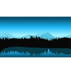 Nature Landscape with Reflection in Water vector image