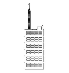Outline building skyscraper antenna communication vector