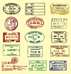 Passports stamps vector