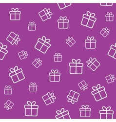 Pattern with gift boxes vector image