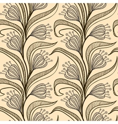 Pattern with stylized drawings of flowers vector image