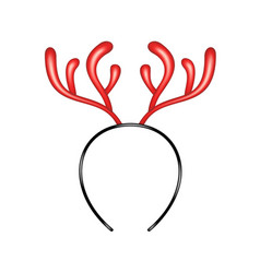 Reindeer caribou in red design headband vector